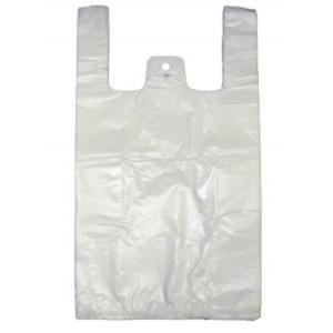 """""""PUMA"""" LARGE VEST WHITE CARRIER BAGS (11""""X17""""X21"""") 1X1000"""