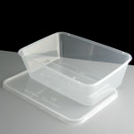 MAJESTIC C650 MICROWAVE PLASTIC CONTAINERS WITH LIDS 1X250